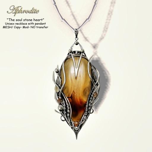 Aphrodite The Soul Stone pendant- Silver prize