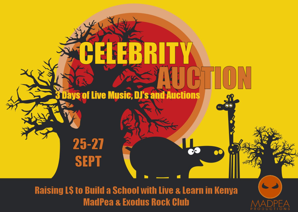 MadPea Celebrity Auction Poster