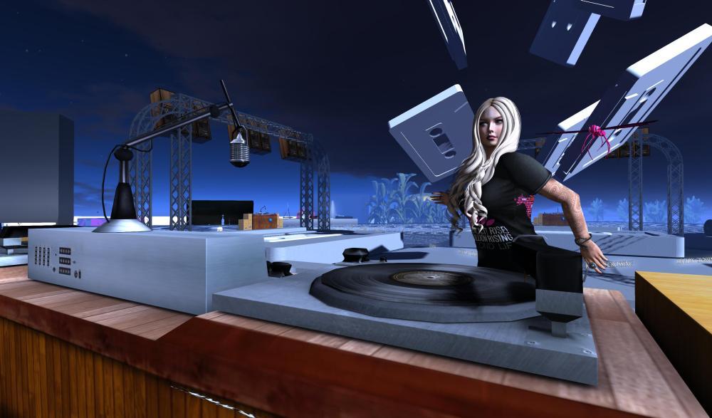 DJ Kess plays at One Billion Rising!