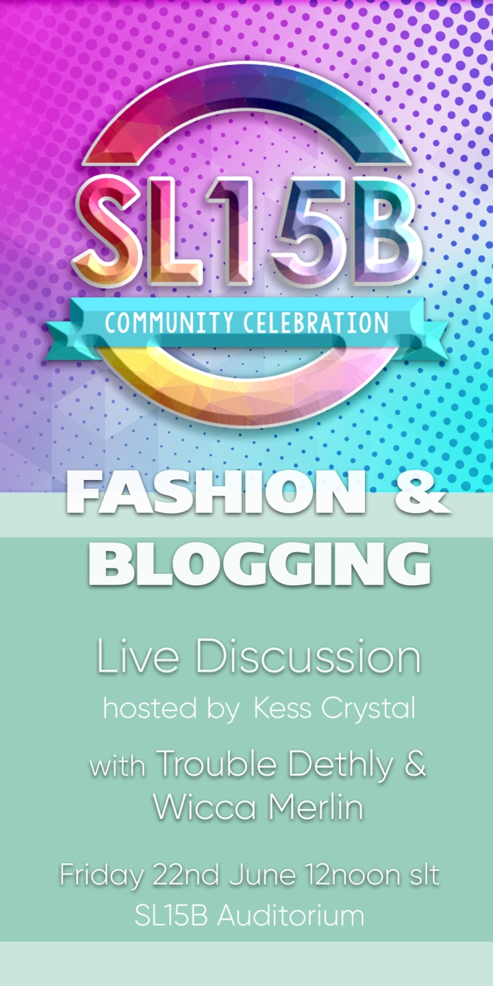 Fashion & Blogging – Live Discussion at SL15B